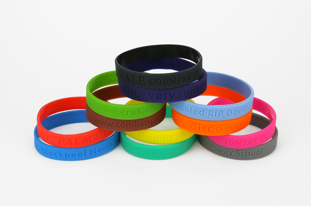 Debossed Silicone Wristbands 70