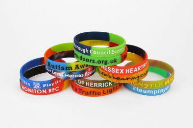 Multi-Coloured Silicone Wristbands