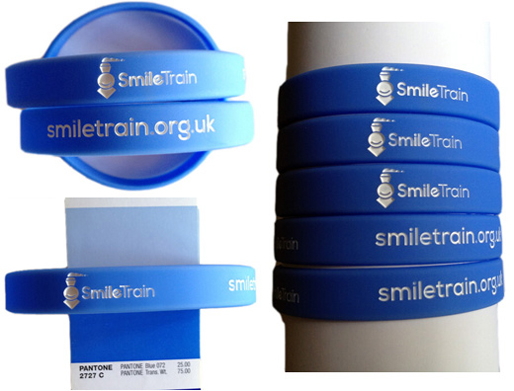 Silicone Wristbands for Smile Train