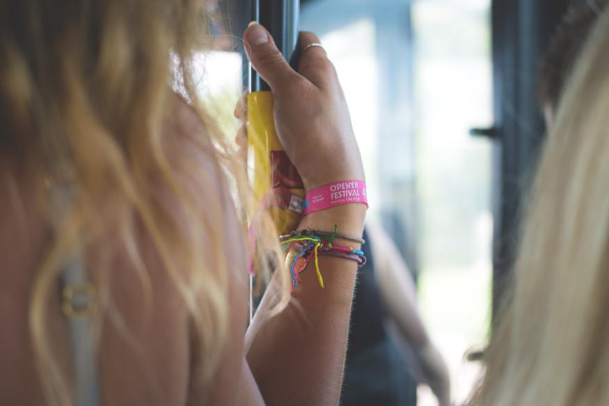 Woman Wearing Silicone Wristband