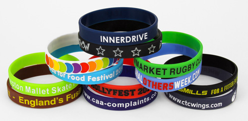 Debossed With Infill Silicone Wristbands