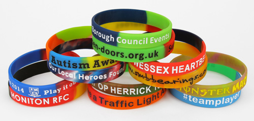 Multi-Coloured Silicone Wristbands
