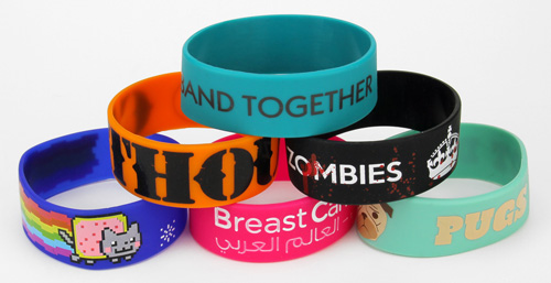 Wide Silicone Wristbands