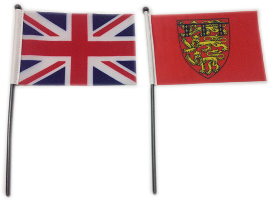 Union Jacks and Duchy of Lancaster Flags