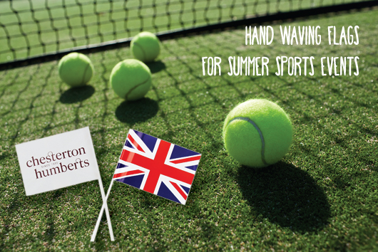 Hand Waving Flags for Summer Sports