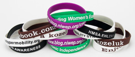 Interlinked Silicone Wristbands
