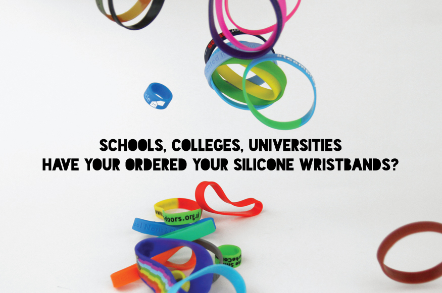 Silicone Wristbands for Schools, Colleges and Universities