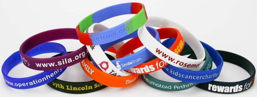 Silicone Wristbands for Charities