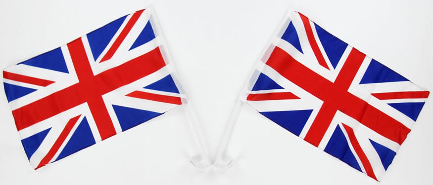 Royal Wedding Car Flags