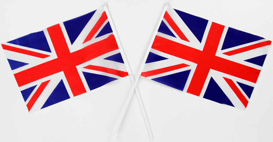 Royal Wedding Hand Waving Flags